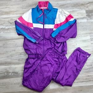 Vintage Lavon Track Suit Jacket and Pants Set